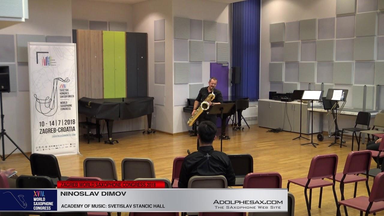 5 pieces for clarinet by Tomislav Zografski    Ninoslav Dimov   XVIII World Sax Congress 2018 #adolp