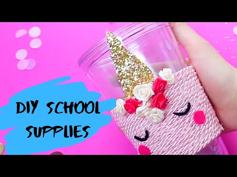DIY School Supplies | DIY Paper Craft Ideas & School Hacks