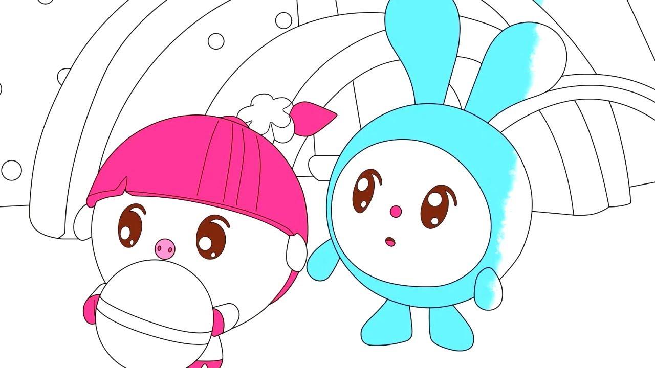 Малышарики - Матрёшки | Раскраска для девочек и мальчиков
