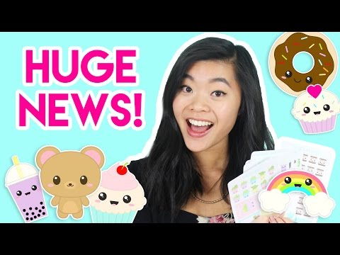 HUGE NEWS!!! My New STICKER SHOP!! 💖😱