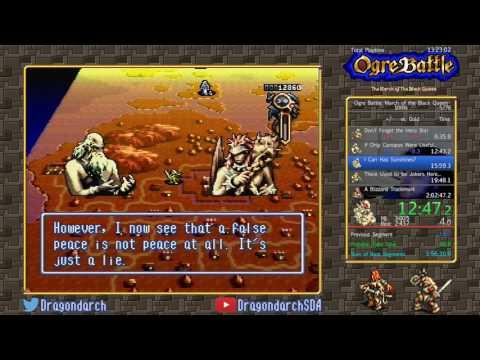 (SNES) Ogre Battle: The March Of The Black Queen - 100% In 2:01:56