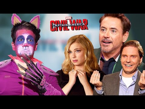 Captain America: CIVIL WAR vs Purple Grumpy Cat | Fun with Robert Downey Jr. and more
