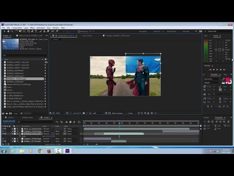 JUSTICE LEAGUE SUPERMAN VS FLASH RACE SCENE EDITING TUTORIAL ON ADOBE AFTER EFFECT CC 2017