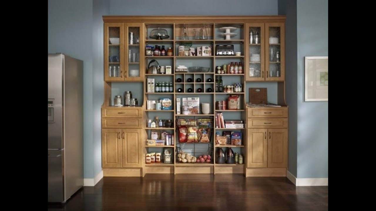 Wood Pantry Cabinet Youtube