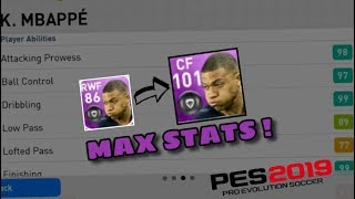 TRAINING 101 OVERALL MBAPPE + MAX STATS ! MOST OP PLAYER IN PES MOBILE