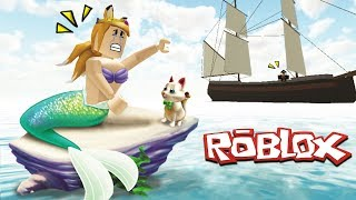 a mermaid with Roblox lost treasures [Midori] seen COB.