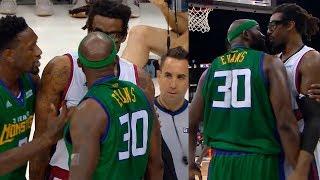 Amare Stoudemire & Reggie Evans - Exchange Words   Season 3, Week 5   BIG3 Basketball