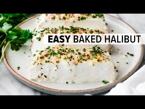 blue cheese baked halibut
