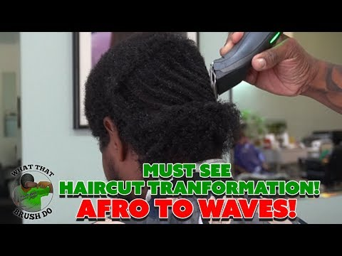 MUST SEE 360 Waves Haircut Transformation! End of 19 Week Wolf | Afro to Waves