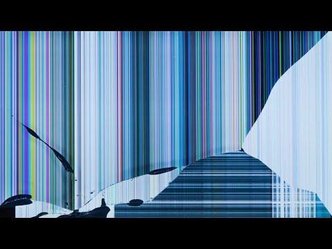 Фон футаж разбитого экрана телевизора background footage broken TV screen