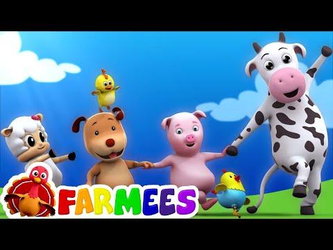 kids animal song | nursery rhymes farmees | farm song | childrens rhymes | 3d rhymes