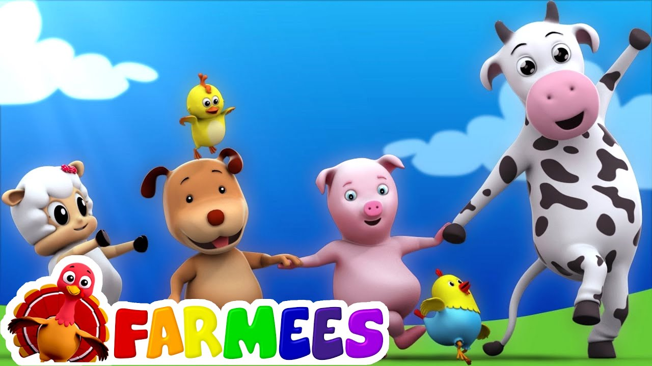 kids animal song   nursery rhymes   farm song   childrens rhymes   3d rhymes by Farmees