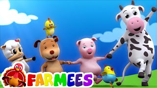 kids animal song | nursery rhymes | farm song | childrens rhymes | 3d rhymes by Farmees S01E116