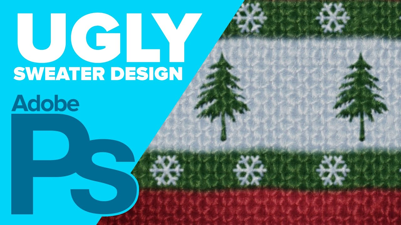 a9f313d26 How to Create an Ugly Sweater in Photoshop - YouTube