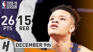 Kevin Knox Full Highlights Knicks vs Hornets 2018.12.09 - 26 Pts, 15 Rebounds!