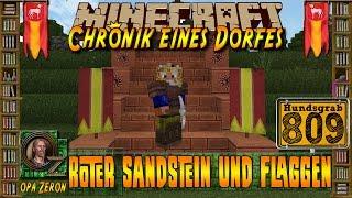 Minecraft #809-Chronik eines Dorfes-Roter Sandstein und Flaggen[HD+Deutsch]