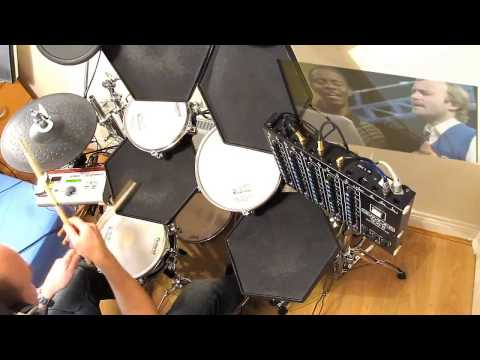 """Phil Collins - """"Easy Lover"""".  🎧 DRUM COVER. SIMMONS SDS 8."""