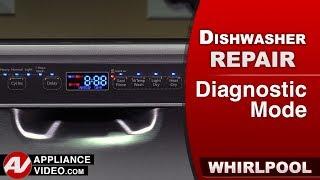 Whirlpool Maytag Dishwasher Diagnostic Mode Error Codes Youtube