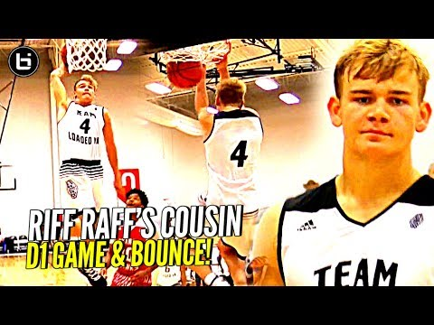 White Boy w/ STUPID BOUNCE!! Riff Raff's Cousin Mac McClung EATING at Adidas Uprising!! D1 Bound!