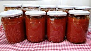Evde domates sos tarifi /Domates konservesi nasıl yapılır /Kış hazırlıkları