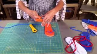 DIY Gladiator Style Flip Flops