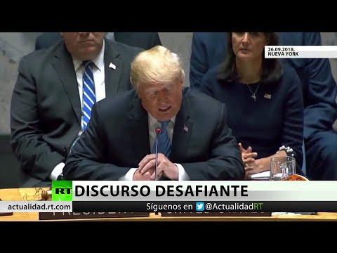 Trump ataca a Irán, China y Rusia en la ONU y estos replican enérgicamente