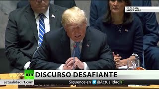 Trump ataca a Irán, China y Rusia en la ONU y estos replican enérgicamente