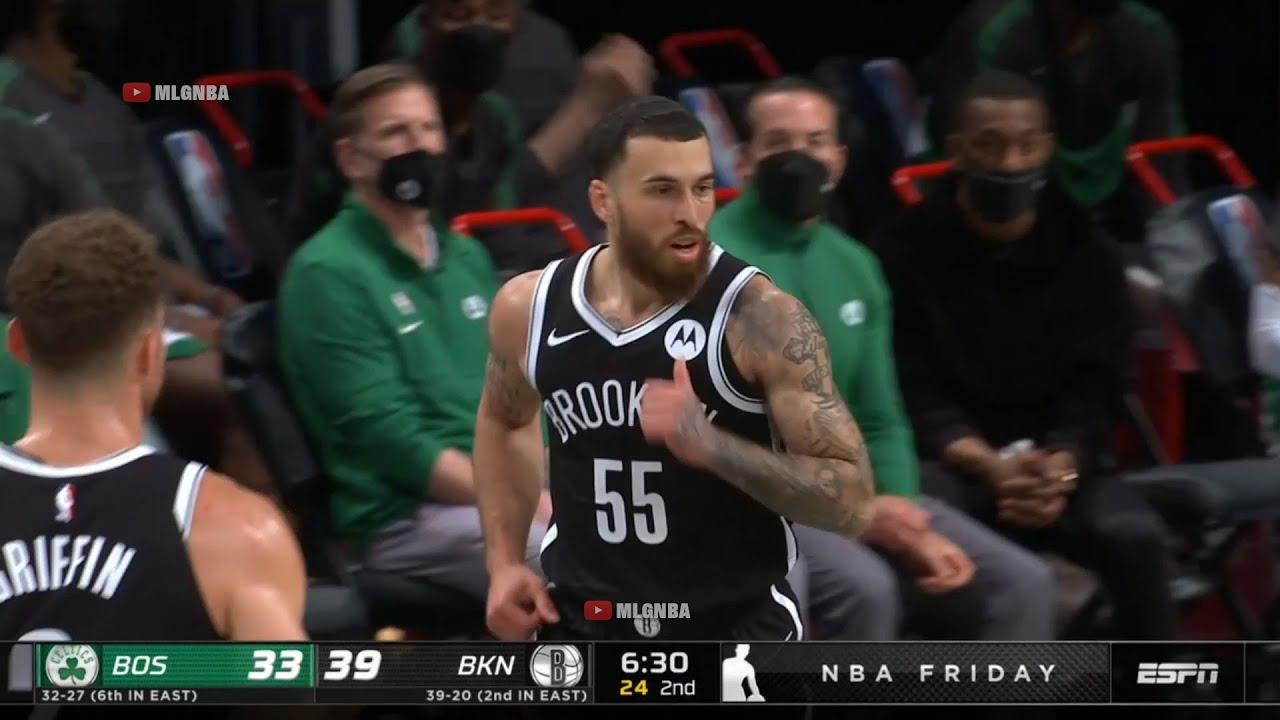Mike James first bucket in a Nets uniform | Celtics vs Nets