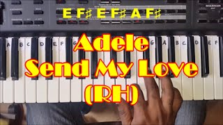 How to Play Send My Love by Adele (To Your New Lover) - Easy Piano Tutorial - Right Hand
