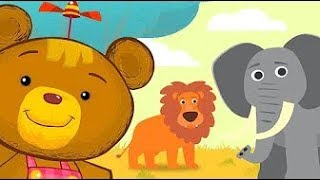 Learning Animal Sounds & Name For Kids / Wild Animals With Bonnie Bear & The Magic Brush / ABC Fun