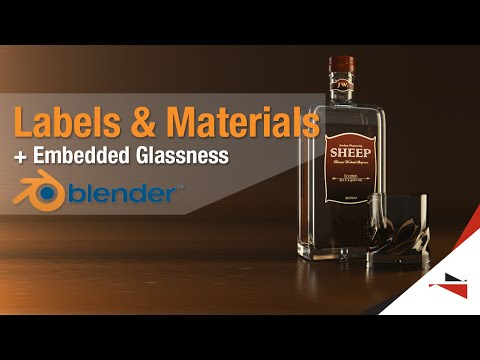 Blender Tutorial - Labels and Different Materials on one object