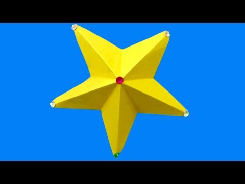 Paper Origami Star - How To Make 3D Star With Paper | How To Make Simple & Easy Paper Star