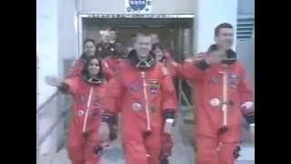 STS-107 Space Shuttle Columbia Crew Walkout