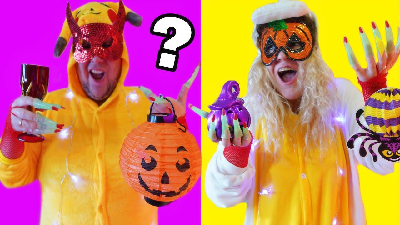 Телепатия ХЭЛЛОУИН челлендж !!! Twin Telepathy Halloween Challenge