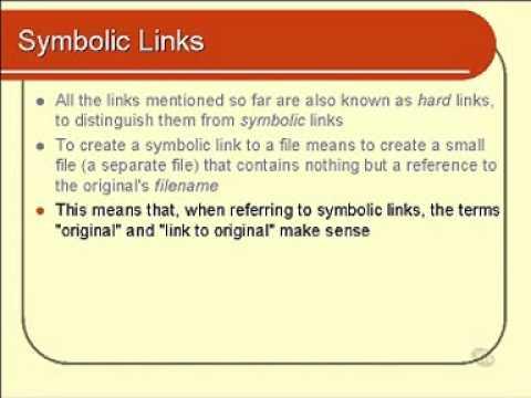 Linux And Unix Basics Symbolic Links Part 1 Youtube