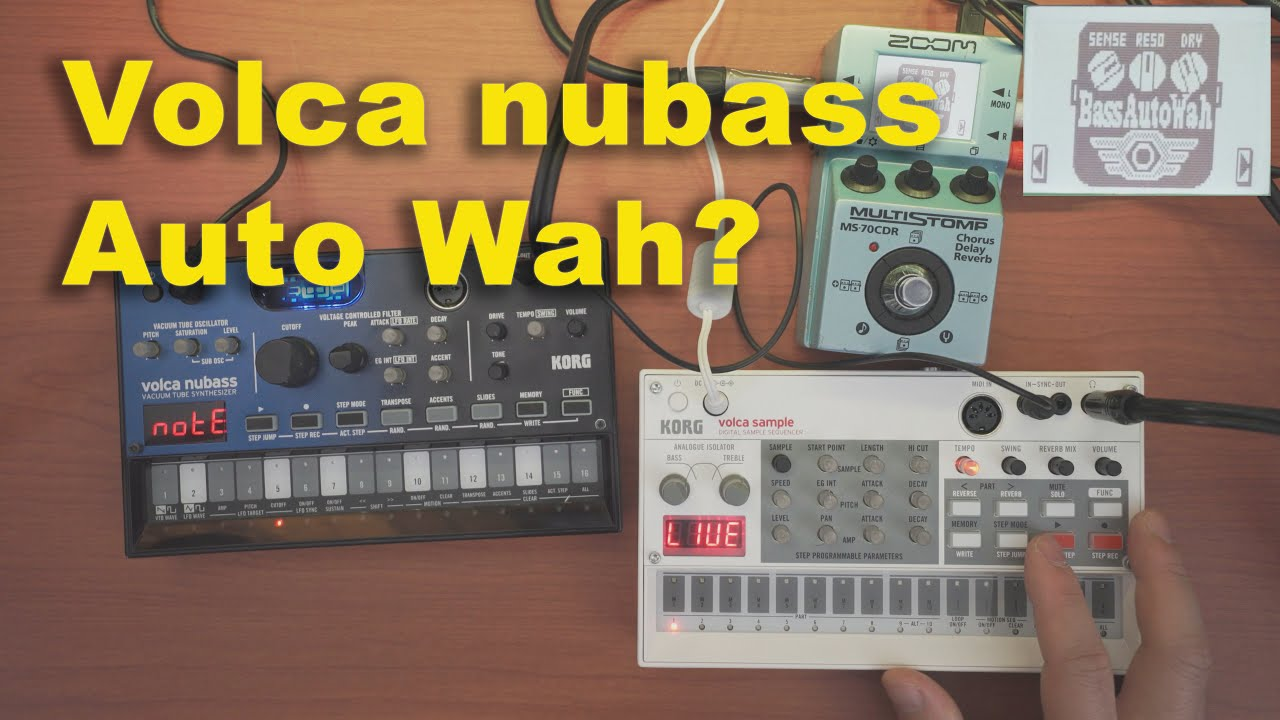 Volca Nubass + Auto Wah & Cry (Zoom 70CDR)