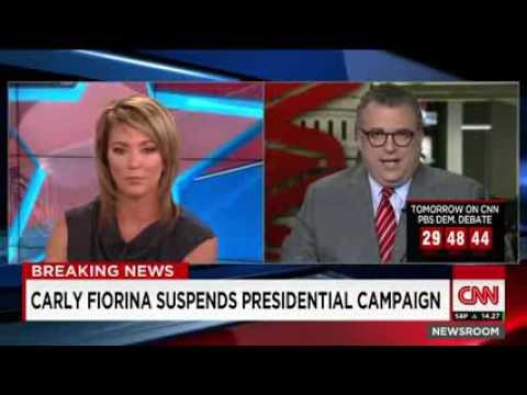 Carly Fiorina suspends presidential campaign
