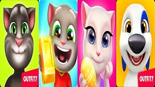 My Talking Angela - My Talking Tom vs My Talking Hank vs Talking Tom Gold Run 2018