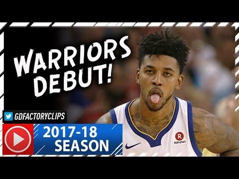 Nick Young Full Highlights vs Rockets (2017.10.17) - 23 Pts, Warriors Debut!