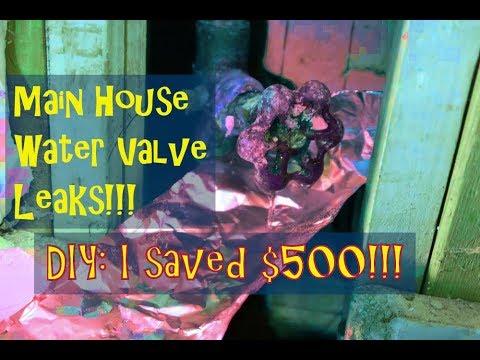 DIY plumbing fix main house water shut off valve, save $500!!