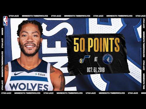 Derrick Rose 50 Point Game: Utah Jazz @ Minnesota Timberwolves #NBATogetherLive October 31, 2018