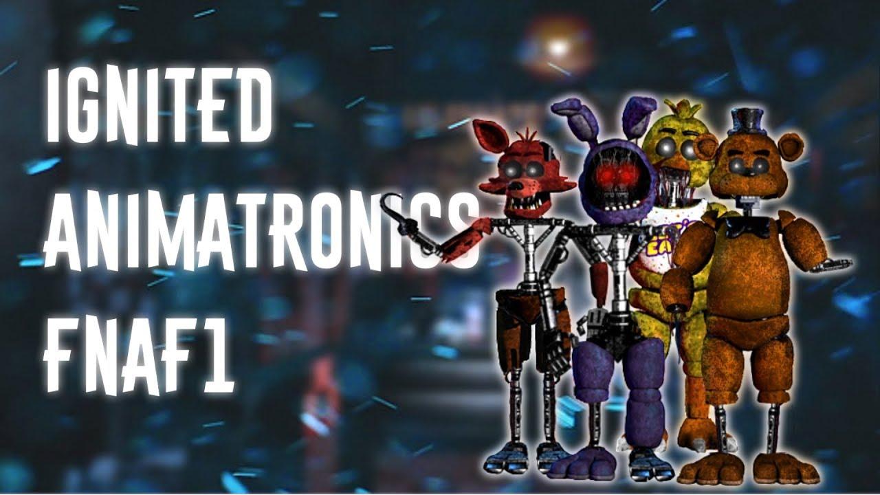 [FNAF | Speed Edit] Making Ignited Animatronics FNaF1