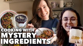 How to Make a Recipe with Random Ingredients  Vegan Mystery Box Challenge