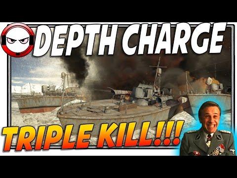 ⚓War Thunder Depth Charge Triple kill! (War Thunder Naval Forces Gameplay)
