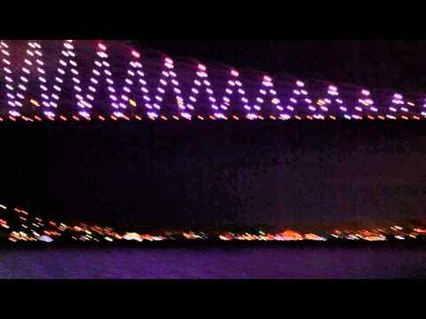 Amazing veiw of Istanbul Turkey Bosporus strait night tour!