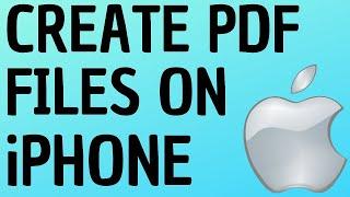 How to Create PDF Files on iPhone and iPad - Print to PDF