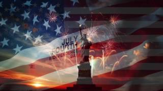 STATUE OF LIBERTY ANIMATED FLAG WITH USA ANTHEM HD **FREE USE**