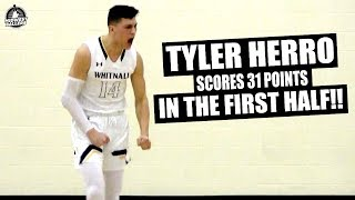 Tyler Herro TORCHES 1st Round Playoff Opponent! Kentucky Commit Messed Around & Got A TRIPLE DOUBLE!