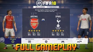 Fifa 18 [ arsenal vs spurs  ] north london derby gameplay ft. kane, sanchez( xbox one , ps4 , pc )
