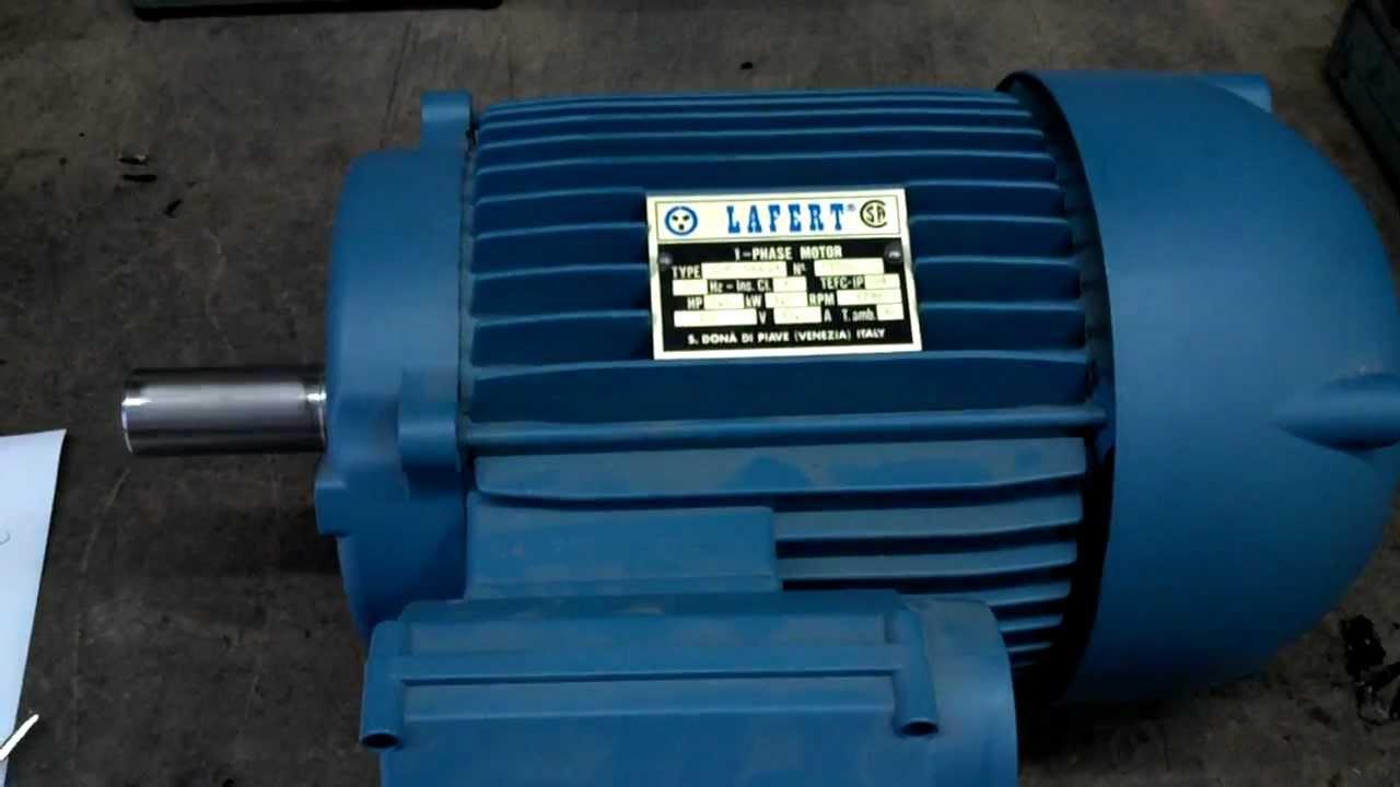 Lafert LMR 100LC4 212 HP Single Phase Motor  Cap Start & Cap Run  YouTube
